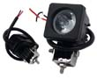 LED work light, 10W, cold white (6000K), 800lm, 10°, 9÷30VDC: OLI.WK.10W-SQCR