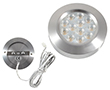 Eyelet LED  Silver, 3.0W, warm white, 300lm, 30°, 12VDC, Dimention: d70x15: OLM.BC.R3.0W-d70x15