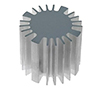 Heatsink for LED, diameter 60mm, height 50mm: RAD SK56950AL