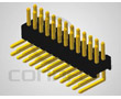 pin header dual row 2x40pin, angled, PCB, gold contact, p.1.27mm: Z L2x40R 1.27