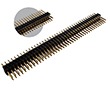 pin header dual row 2x40pin, straight, PCB, gold contact, p.1.27mm h=7.8mm: Z L2X40S 1.27-H4T1