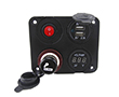 Set 4in1 lighter; USB charger: 1A, 2.1A; voltmeter; button ON/OFF: Z.CAR4w1.2SN