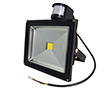 30W LED flood light with PIR sensor, warm white, 2200lm, 120°, 230V: OLFL.BC.30Wk-ms
